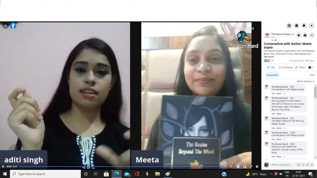 Conversation with Meeta Gupta about her latest book, The Realm Beyond the Mind